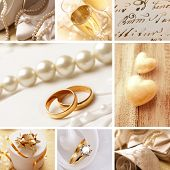 stock photo of wedding invitation  - wedding collage - JPG