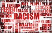 stock photo of racial discrimination  - Racism and Discrimination as a Grunge Background - JPG