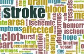 pic of hemorrhage  - Stroke Medical Concept of Early Warning Signs - JPG