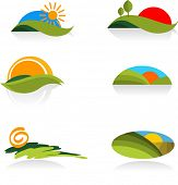 collection of nature  icons - for more logos of this type CLICK ON MY NAME BELOW TO SEE MY GALLERY