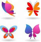 image of emo  - collection of butterfly  icons and symbols - JPG