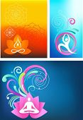 Постер, плакат: Три красочные йога обои