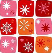 Постер, плакат: Рождественские иконки набор с салютов звезды и бенгальские огни
