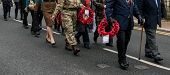 Постер, плакат: The Remembrance Parade On Remembrance Sunday 2016 In Wrexham Wales