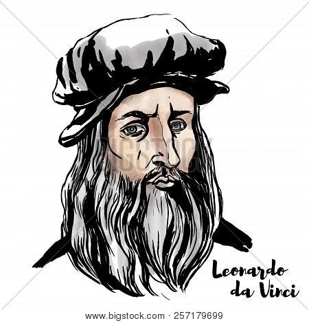 Leonardo Da Vinci Watercolor Vector
