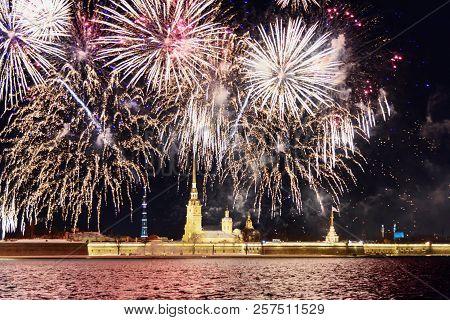 Firework On The Neva River