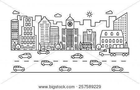 Line City Street Outline Urban