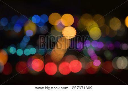 De Focusedblur Image Of City