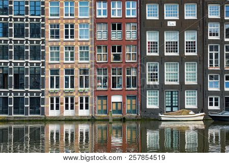 Row of typical houses and