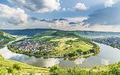 Moselle Loop At Kroev Panorama Germany Picture poster