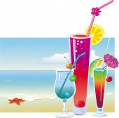 picture of beach party  - Cocktails on the beach - JPG
