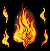 Постер, плакат: Огонь графические элементы