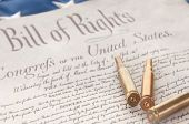 Kugeln auf US Bill Of Rights