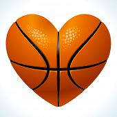 pic of gift basket  - Ball for basketball in the shape of heart - JPG