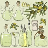 picture of crockery  - Big set doodle olive oil - JPG