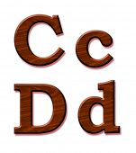 picture of dd  - Wooden alphabet - JPG