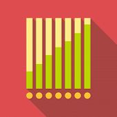 Chart Graph Icon. Flat Illustration Of Chart Graph Icon For Web Design poster