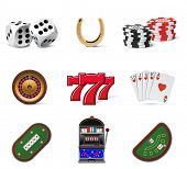 stock photo of poker machine  - Casino icons - JPG