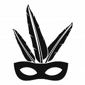 Carnival Mask Icon. Simple Illustration Of Carnival Mask Icon For Web poster
