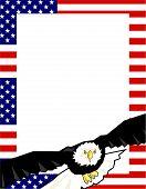 Patriotic Frame poster