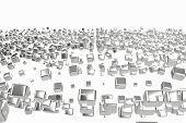 Silver Or White Gold Platinum Blocks Cubes Over White Background. Modeling 3d Illustration. Wealth R poster