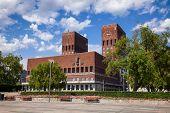 The Oslo City Hall (Radhus), a municipal building and major landmark in Central Oslo, Norway, Scanda poster