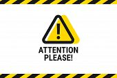 Attention Please. Important Announcement. Pay Attention. Vector Illustration poster