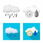 Vector Design Of Weather And Weather Logo. Set Of Weather And Application Vector Icon For Stock. poster
