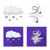 Vector Design Of Weather And Weather Icon. Collection Of Weather And Application Stock Symbol For We poster