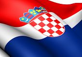 stock photo of former yugoslavia  - Flag of Croatia - JPG