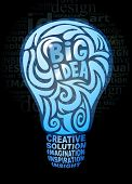 Big idea concept - stylized light bulb