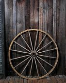 picture of wagon wheel  - wagon wheel against food - JPG