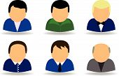 stock photo of people icon  - people icon set vector illustration button internet - JPG
