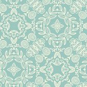 stock photo of psychedelic  - Stylish seamless pattern in mandala style - JPG