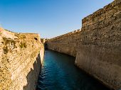 stock photo of ceuta  - Castle Moat in Ceuta the hispanic enclave in Africa - JPG