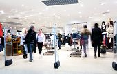 stock photo of shopping center  - Photo of the shoppers at shopping center - JPG