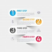 picture of clocks  - Business steps infographics template - JPG