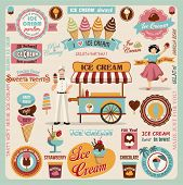stock photo of flavor  - Collection of Ice Cream Design Elements - JPG