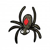 stock photo of black widow spider  - black widow spider cartoon - JPG