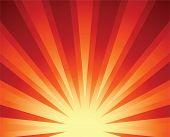 Постер, плакат: Восходящее солнце
