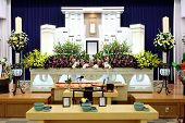 stock photo of tragic  - Funeral home interior of traditional japanese style - JPG