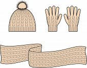 foto of knitwear  - Vector illustration - JPG