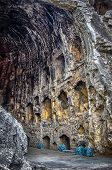 image of solemn  - Henan Longmen cave temples of Buddhism China solemnly perfectly gorgeous rock grottoes - JPG