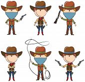 foto of bandit  - Sheriff and Bandit characters on the white - JPG