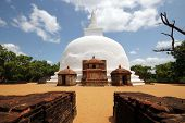 stock photo of polonnaruwa  - Kiri Vihara Stupa in Polonnaruwa Sri Lanka - JPG