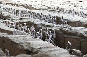 image of qin dynasty  - Beautiful view of the terracotta army in Xian China - JPG