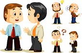pic of cartoon character  - Set of people about Business activity in office - JPG