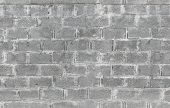stock photo of aeration  - Gray wall made of aerated concrete blocks - JPG