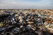 picture of landfills  - Piles of garbage on the city landfill