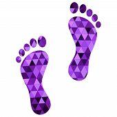 stock photo of carbon-footprint  - black footprint  - JPG